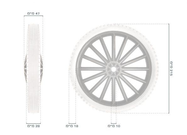 גלגל 1007704 – מידות