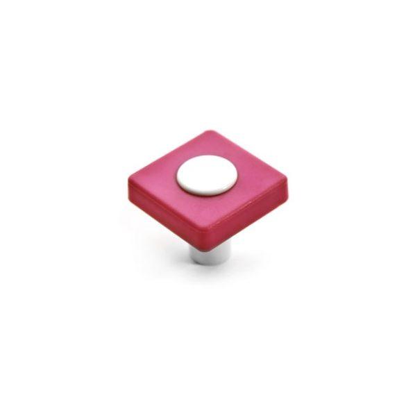 כפתור CW11.29.3631 בצבע ורוד בשילוב לבן