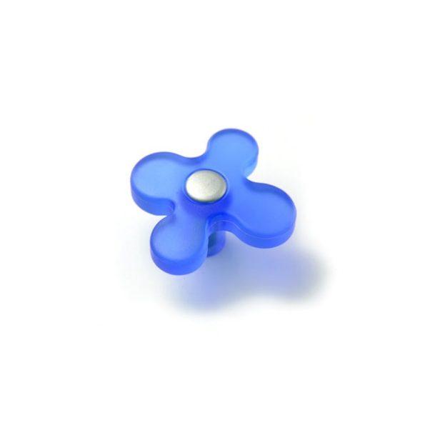 ידית כפתור YYS81167 | 2093 כחול בשילוב בסיס כסף