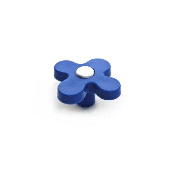 ידית כפתור CW31.3531 כחול בשילוב בסיס לבן
