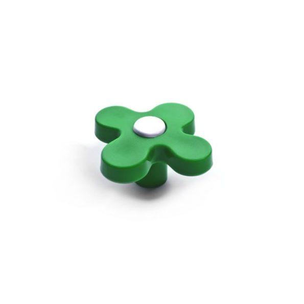 ידית כפתור CW31.4231 ירוק בשילוב בסיס לבן