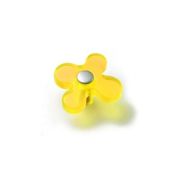 ידית כפתור YYS81168 | 2093 צהוב בשילוב בסיס כסף